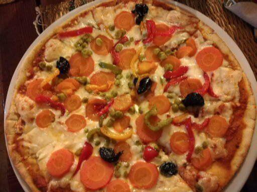 pizza nel ristorante a Marrakech