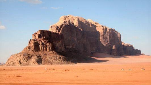 Rocce di arenaria nel deserto di Wadi Rum